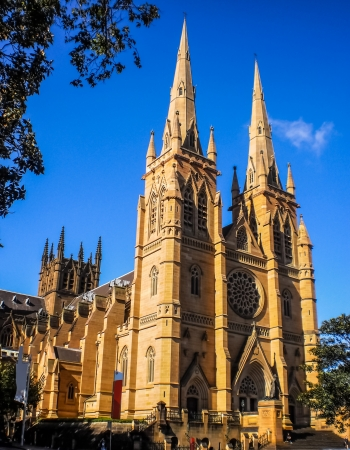 Christian church with blue sky at Sydney of Australia Stock Photo