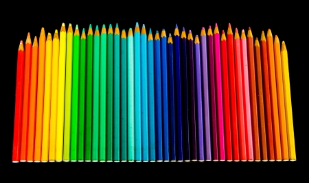 pensil: chase kind of color pencil on black background