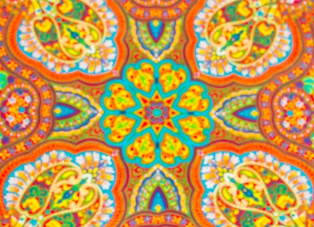 Blur version of Colorful fabric design in indian style photo