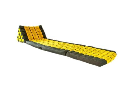 whitw: thai style pillow seat on whitw background