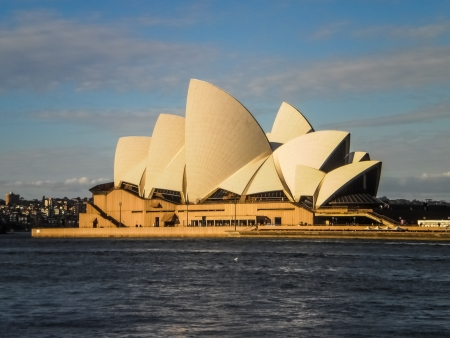 SYDNEY -SEPTEMBER 22 :Sydney opera house view from the Sydney harbour on  September 22,2011 .It was designed by Danish architect Jorn Utzon .