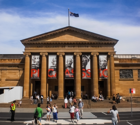 Sydney-January 7 : Exhibition of Picasso painting at Art gallery of New South Wales in Sydney,Australia on January 7,2012. Art gallery of New South Wales is the biggest art gallery in Sydney. Stock Photo - 20844686
