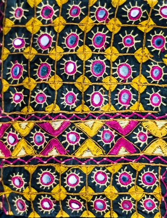 indian fabric: Handmade of Indian fabric style with mirror