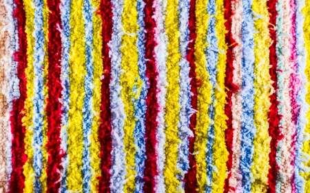 Colorful strips tribe fabric close up texture   photo