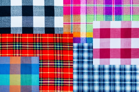 variety scott fabric close up background  Stock Photo