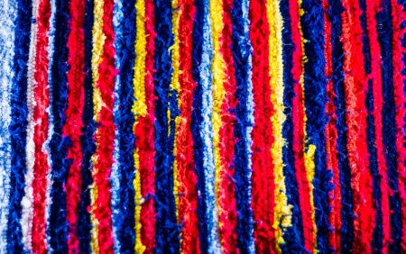 Colorful strips tribe fabric close up texture . Stock Photo - 21499594