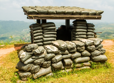 siege: War safety fortress on the top of the mountain  Stock Photo
