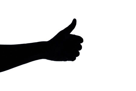 knuckle: Black hand sign on the white background.