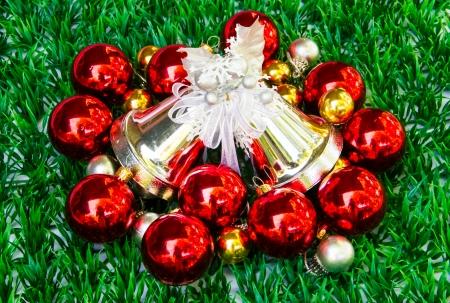 Various christmas decoration background. photo