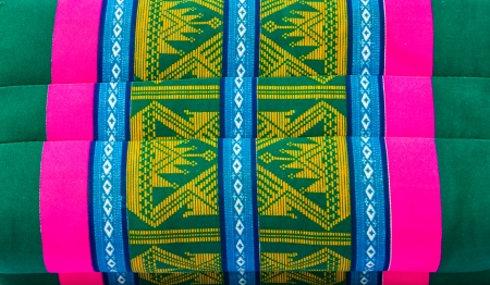 Colorful close up pillow design in Thai style. Stock Photo - 23841755