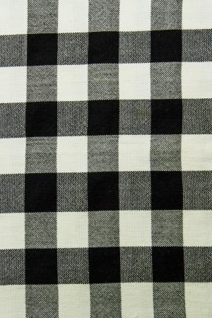 scott: Black and white scott fabric close up texture. Stock Photo