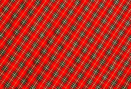 scott: Red scott fabric clos up background.