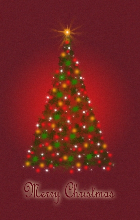 Christmas tree from light vector background. photo