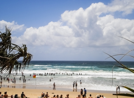 People relaxing at Surfer paradise in Gold coast,Australia. Stock Photo - 24582647