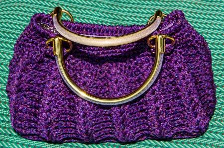 Häkeln Handtasche Muster Nahaufnahme. Lizenzfreie Fotos, Bilder Und ...