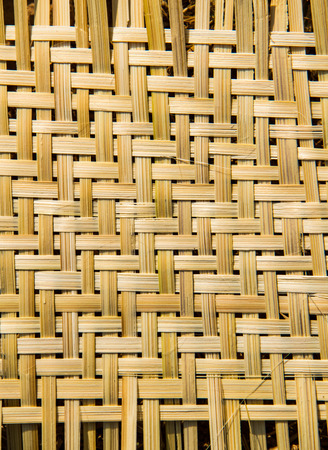 Bamboo weave close up background. photo