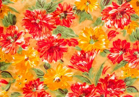 Colorful flower print cloth.