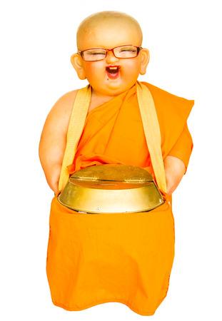 limosna: Cuenco de las limosnas de principiante mu�eca participaci�n del monje.