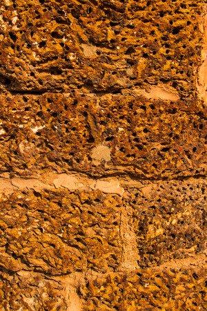 Vintage adobe close up wall. photo
