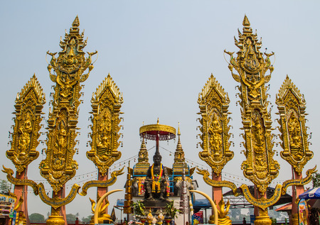 Monument at Golden triangle in Chiang rai,Thailand.