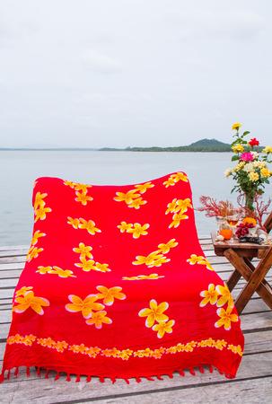 Balcony decoration beside the sea  photo