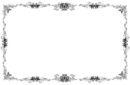 lustre: Classic picture frame on white background. Stock Photo