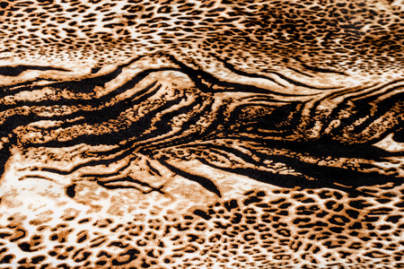 Close up of tiger print background.