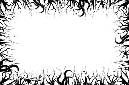 Abstract trees frame on white background. photo