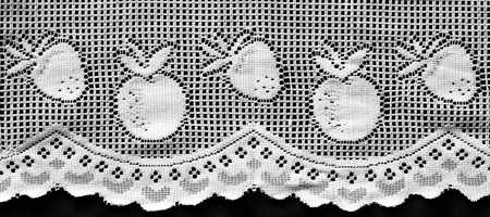 White lacework with fruits pattern. photo