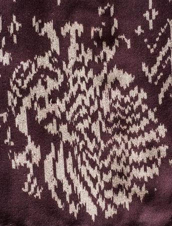 Abstract peacock Thai silk close up pattern . photo