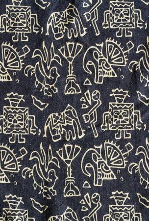 Cotton fabric pattern close up background. photo