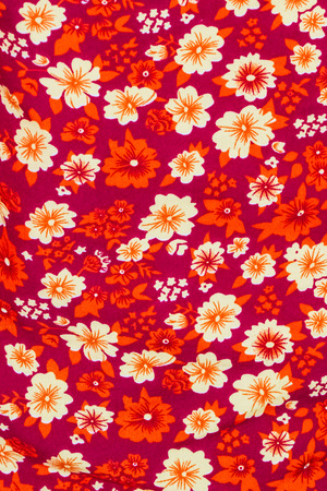 indian fabric: Close up of flower print fabric.