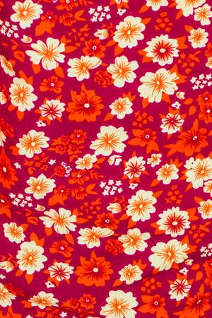 fabric design: Close up of flower print fabric.