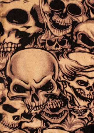 Skulls print close up background. photo