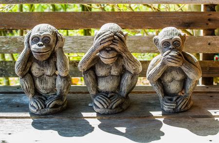 huggable: Three monkeys with Dharma puzzle.