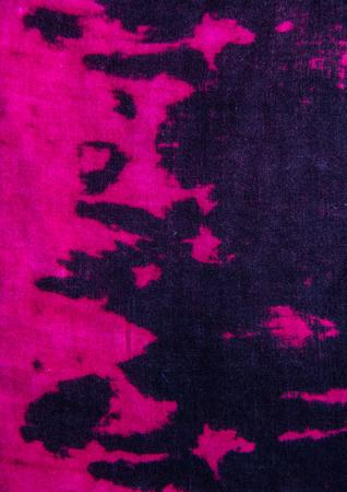 pink and black: Tie dye pattern fabric close up background.