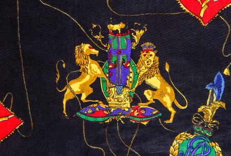 Illustration of lion print on fabric. illustration