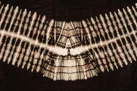 dessin noir et blanc: Attachez tissu motif de colorant fermer arrière-plan. Banque d'images