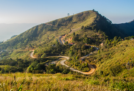 curve road: Curve road on the mountain. Stock Photo