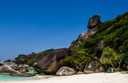 similan: Amazing rock at similan island. Stock Photo