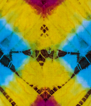 dye: Tie dye pattern close up background. Stock Photo
