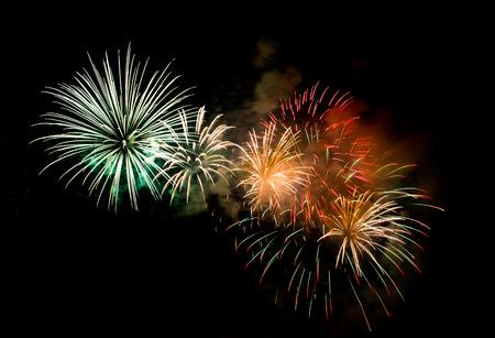 Beautiful firework show for celebration.