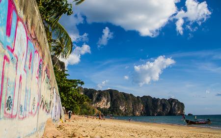 nang: Ao Nang beach in Krabi,Thailand.