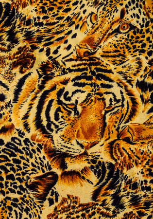 Tiger tissu imprimé de près fond.