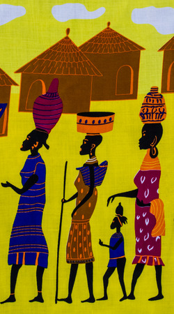 tribe: Ilustration of African tribe print fabric background.