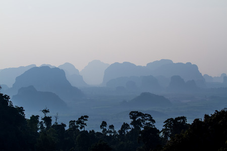 krabi: Beautiful mountain in Krabi,Thailand. Stock Photo