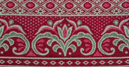 fibra: Thai pattern style fabric background.