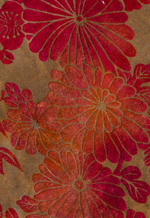 cotton velvet: Vintage velvet flower fabric close up background. Stock Photo