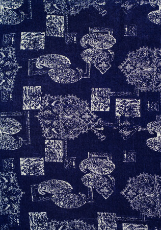 bstract: bstract print fabric close up background. Stock Photo