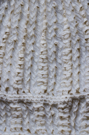Lana di lavoro a maglia da vicino texture. Archivio Fotografico